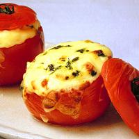 トマトのカップドリア ホワイトソースがけの写真