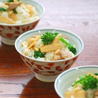 竹の子と鶏肉の混ぜごはんの写真