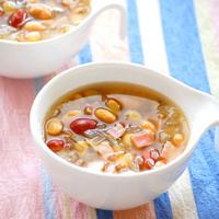 ミックス豆のスープの写真