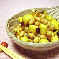 大豆とさつまいもの甘辛和えの写真