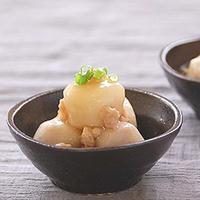 里芋の鶏そぼろあんかけの写真