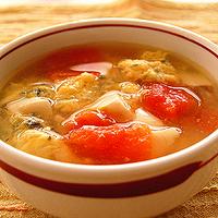マレーシア風かき玉汁の写真
