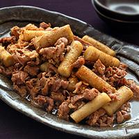 ごぼうと牛肉の炒め煮の写真