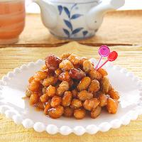 3種のお豆の甘辛揚げの写真