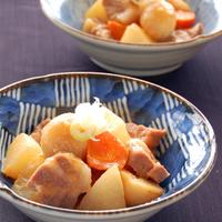 根菜と豚肉のみそ煮の写真