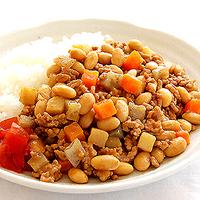 五目豆のキーマカレーの写真