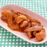 たまねぎと鶏肉の甘酢煮の写真