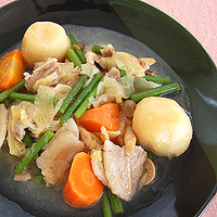 野菜と豚肉のにんにく炒めの写真