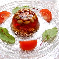 サラダ豆のゼリー寄せ 青じそ風味の写真