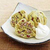 小豆の蒸しケーキの写真